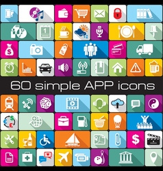 icons APP vector image