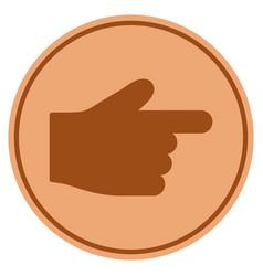 index finger bronze coin vector image
