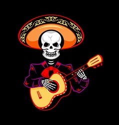 Mariachi guitar player vector image vector image