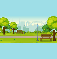 a park in urban city vector image