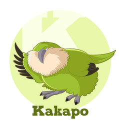 abc cartoon kakapo vector image