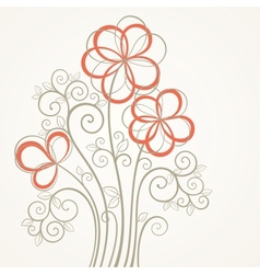 Abstract flower card vector