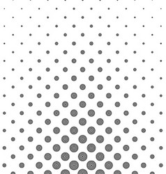 Abstract monochrome concentric circle pattern vector