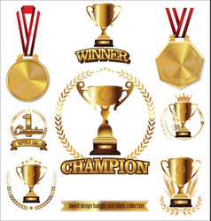 award design labels collection vector image