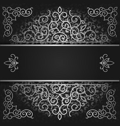 background black and silver cover vector image