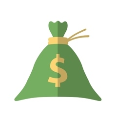 Bag money dollar cash flat icon vector