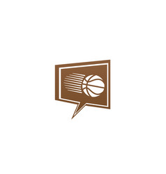 basketball shoot in a chat icon for logo design vector image
