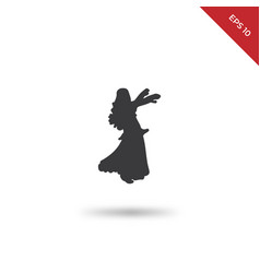 belly dance icon vector image