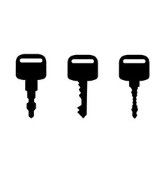 Black keys silhouettes vector