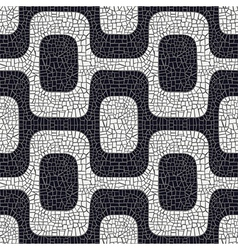black white pavement pattern vector image
