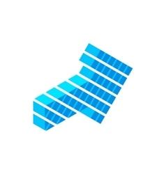 Blue arrow isometric 3d icon vector image