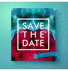 Bold simple Save The Date wedding template vector image