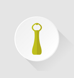 bottle opener icon on white background vector image