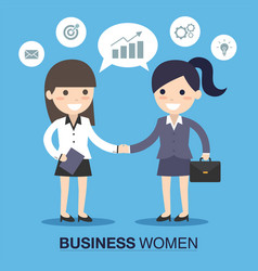 Businesswoman shaking hands vector