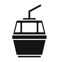 cable car icon simple style vector image
