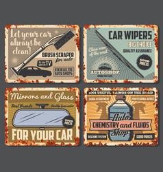 Car auto parts automobile accessories shop vector