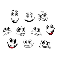 Cartoon faces set vector