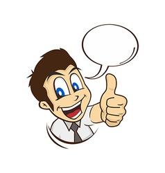 Cartoon guy thumbs up vector