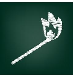 Chalk icon on green board vector