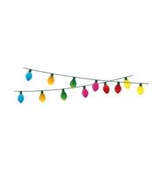 christmas lights decorative icon vector image