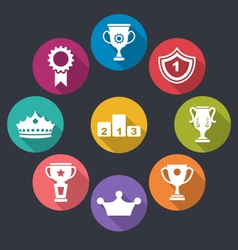 Collection of Awards and Trophy Signs vector image