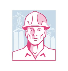 Construction Engineer Worker Hardhat vector