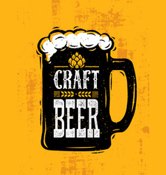 Craft beer sold here rough banner artisan vector