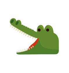 Crocodile wild animal icon vector