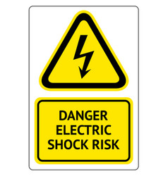 danger electric shock risk vector image