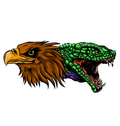 eagle and snake tattoo design vector image