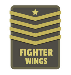 Fighter wings icon logo flat style vector