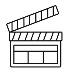 film clapper icon outline style vector image