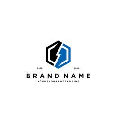 Flash electric logo design vector