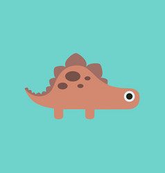 flat icon on background cartoon dinosaur vector image