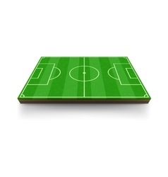 Football field icon cartoon style vector