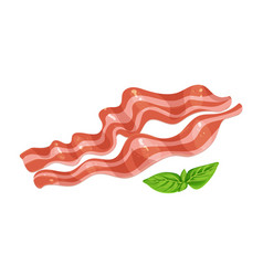 Fried pork bacon vector