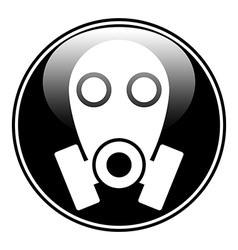 Gas mask symbol button vector