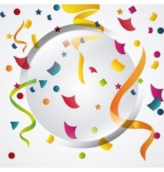 Happy birthday design confetti icon celebration vector image