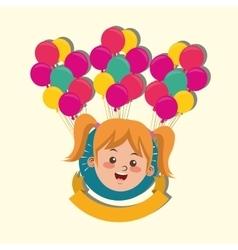 Happy child image vector