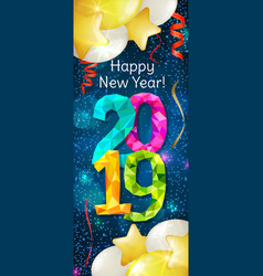 Happy new year 2019 banner vector