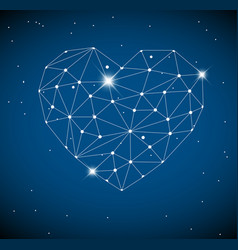 heart made from triangles as constellation vector image