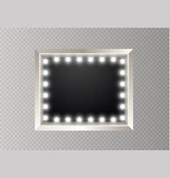 Hollywood lights illuminated realistic banner vector