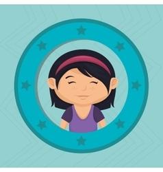 icon cartoon child happy vector image