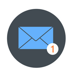 icon of new email envelope image vector image