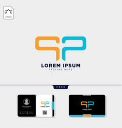 Initial p or pp logo template and free business vector