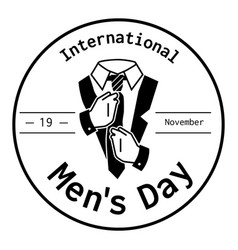 International men day tie suit icon simple style vector