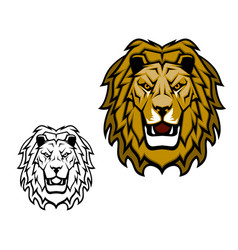 lion wild cat animal mascot vector image
