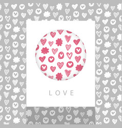 love theme design vector image vector image