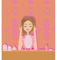 Make up at home vector