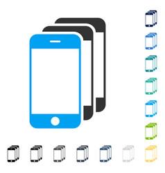 Mobile phones icon vector